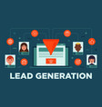 lead management lead generation conversion vector image