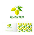 lemon logo restaurant applique seamless pattern vector image vector image