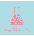 Love laboratory glass with hearts inside Pink and vector image