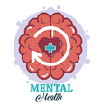 mental health day human brain heart disorder vector image vector image