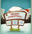 merry christmas holidays background vector image vector image