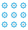 multimedia icons colored set with sound tuner vector image vector image
