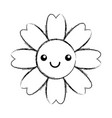 natural flower spa kawaii character vector image