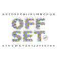 offset print style modern font vector image vector image