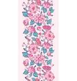 pink blue kimono flowers vertical border vector image