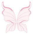 Pink fairy wings vector image vector image