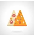 Pizza menu flat color icon vector image vector image