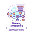 planning and designing concept icon system