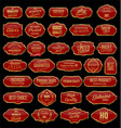 retro vintage gold and red sale frames collection vector image vector image