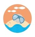 sand glasses oyster beach design vector image
