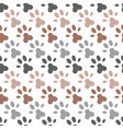 seamless pattern of paw foot print for wrapping vector image