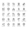 set of network and communication outline icons vector image vector image