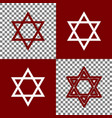 shield magen david star symbol of israel vector image