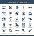 signal icons vector image vector image