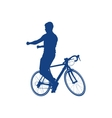silhouette of a cyclist vector image