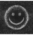 Smile Black and white abstract vector image vector image