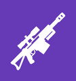 sniper rifle icon isolated pictograph vector image vector image