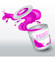 splash purple paint realistic 3d image vector image vector image