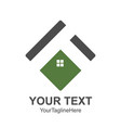 square house roof and home logo element colored vector image vector image