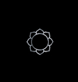 symbol buddhism- lotus flower vector image vector image