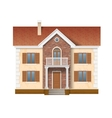 two story residential house vector image vector image