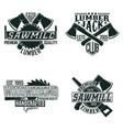 vintage logo design vector image vector image