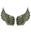 wing black outline vector image