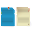 note paper stylized as pc memory card vector image