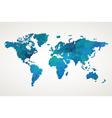World map geometric pattern vector image