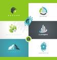 real estates houses logo design vector image
