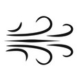 wind icon simple black style vector image