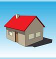 3d image - simple colored isolated house vector image