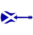 acoustic guitar silhouette with scotland national vector image vector image