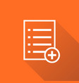 add list document icon flat isolated documents vector image vector image