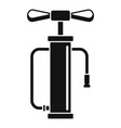 air pump icon simple style vector image