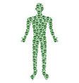 alien face man figure vector image vector image