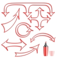 Arrows painted felt-tip pen for your design vector image vector image