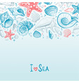 background with seashells vector image