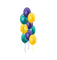 balloons helium isolated icon vector image vector image