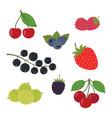 berries set strawberry vector image vector image