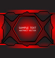 black and red color geometric abstract vector image vector image