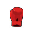 boxing glove red accessory for boxer sports vector image