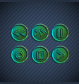 buttons for players vector image