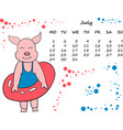 Calendar for 2019 with the chinese new year pig