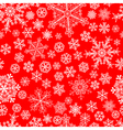 Christmas seamless pattern of snowflakes vector image vector image