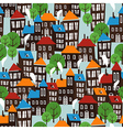 Christmas town seamless cartoon pattern vector image vector image