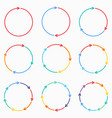 circle arrows for infographic template for vector image