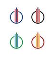 circle-company-logo vector image vector image