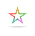Colorful star abstract business logo design vector image vector image