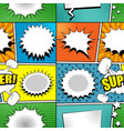 comic colorful bright seamless pattern vector image vector image